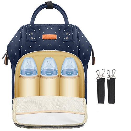 Baby Wickelrucksack Wickeltasche Reise Rucksack, Mama Rucksack Reisetasche, Isolierte Tasche, Wasserdicht Stoffe, Multifunktional, Passform für Kinderwage,Große Kapazität Modern Einzigartig Tragbar (Blau 1) (Babys Rucksack)