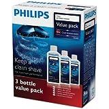 Philips HQ203/50 Lots de 3 flacons de nettoyage Jet Clean pour têtes de rasage