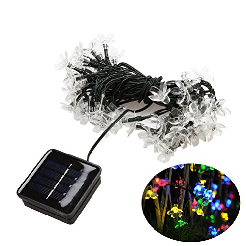 Solar String Lights 100 LED Blüte Blume Fairy Garden String Lichter für Outdoor Home Rasen Hochzeit Patio Party und Urlaub Dekorationen (bunt) - Fairy Lichter Outdoor-string