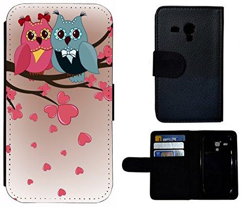 Flip Cover Schutz Hülle Handy Tasche Etui Case für (Apple iPhone 6 / 6s, 1431 Erdmännchen Wüste Tier Animal) 1435 Eule Eulen Blau Pink Cartoon