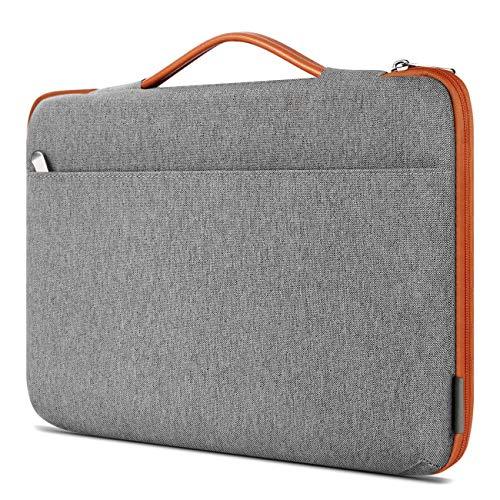 Inateck 14-14,1 Pouces Housse Ordinateur Portable Serviette Antichoc Étanche Compatible avec Ultrabooks et MacBook Pro 15 Pouces 2016/2017/2018/2019, Surface Laptop 3 de 15 Pouces - Orange