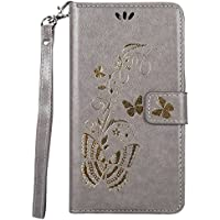 4b0ed2d0573 ISAKEN Funda para Samsung Galaxy J7 2016, Cartera Fundas de PU Cuero  Leather Wallet Case