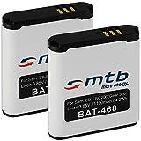2x Batterie pour Samsung EB-BC200ABE / Samsung Gear 360 (SM-C200) [3.85V - 1100mAh - Li-Ion]