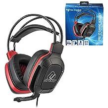 Subsonic - Auriculares para jugador con micrófono, Pro Gaming 50, esport rojo (PS4 Slim /Pro / Xbox One / PC / Nintendo Switch - esport rojo