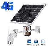 Wireless Network Solar Camera 2 Milioni di Pixel Supporto 4G WiFi Infrarosso Night Vision 5X Zoom Sistema di Telecamere di Sicurezza, per Ponti Stradali All'aperto, Parchi, Frutteti