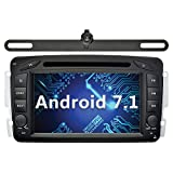 YINUO 7 Zoll 2 Din Android 7.1.1 Nougat 2GB RAM Quad Core Autoradio Moniceiver DVD GPS Navigation für Mercedes-Benz C class W203/Clk...