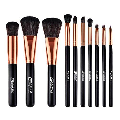 Baoblaze Set Pinceaux de Maquillage Brosse Cosmétique Brush Make-up à Fond de Teint Cache Cerne Contour Yeux et Visage Correcteur - 10pcs