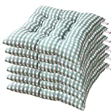 AGDLLYD Cuscino Sedia 40x40,Cuscini da Sedia Trapuntati,Morbido Cuscino per Sedia Cuscino Sedia Cucina da Giardino 40x40x7cm,Disponibile in Tanti Colori Diversi (Verde,6 Pezzi)