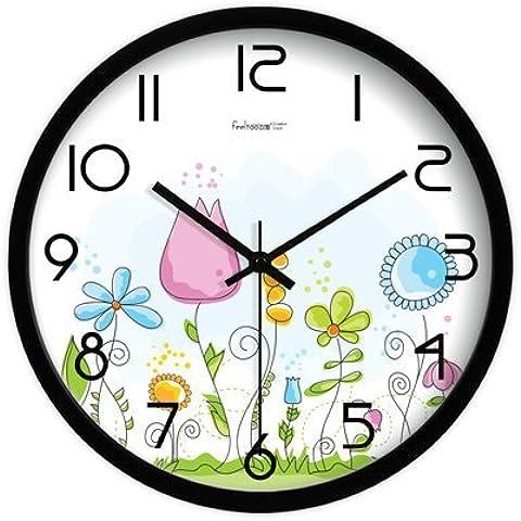 Orologio da parete creativo orologi metallo arte pastorale continentale muto orologi orologio da parete orologi (Occidentale Del Metallo Di Arte)