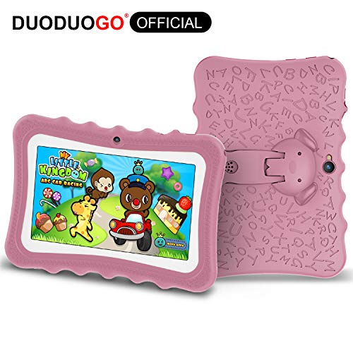 tablet per bambini DUODUOGO G7 Tablet 7 Pollici HD 7 Pcs Android 6.0 CPU Quad Core 1.3 GHz 2 GB RAM 32 GB ROM-Espandere a 64 GB Batteria 4000mAh Tablet per Bambini Doppia Fotocamera 2MP WIFI GPS Bluetooth (G7)