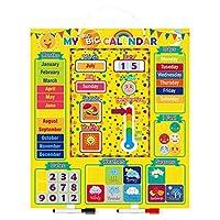 Joyibay Magnetic Calendar Set Creative Educational Classroom Calendar Developmental Toy for Kids
