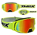 TWO-X Rocket Crossbrille neon gelb Glas verspiegelt iridium MX Brille