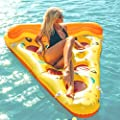 Beach Toy ® - Matelas Géant Tranche de Pizza gonflable, En stock en France, Inflatable Pizza Slice, taille XXL: 180 x 130 cm,