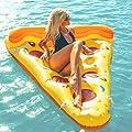 Beach Toy ® - Matelas Géant Tranche de Pizza gonflable, En stock en France, Inflatable Pizza Slice, taille XXL: 180 x 130 cm,