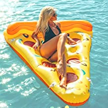 Beach Toy ® - Colchoneta inflable piscina Pizza, Stock in Francia, Inflatable Pizza Slice, tamaño XXL: 180 x 130 cm,
