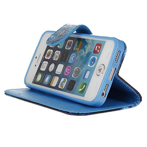 PU Silikon Schutzhülle Handyhülle Painted pc case cover hülle Handy-Fall-Haut Shell Abdeckungen für Smartphone Apple iPhone 5 5S SE +Staubstecker (3XI) 5