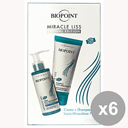 Set 6 BIOPOINT Kit MIRACLE LISS Shampoo + Crema PV02716 Prodotti per capelli