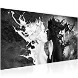 Bilder Milk und Coffee Wandbild Vlies - Leinwand Bild XXL Format Wandbilder Wohnzimmer Wohnung Deko Kunstdrucke Schwarz Weiß 1 Teilig - MADE IN GERMANY - Fertig zum Aufhängen 005012a