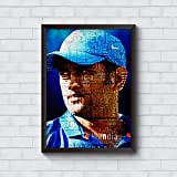 Motivate Box India, Cool, Trendy, Quirky Rolled Posters,M.S. Dhoni Design, Add Some Quirkiness To Your Walls (12 X 18 In), Wall Frames Are Not Included - Only Posters