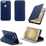 Etui luxe Huawei Honor 8 Ultra Slim bleu Cuir Style avec stand - Housse coque de protection pour Huawei Honor 8 4G/LTE Dual Sim bleue - Prix découverte accessoires pochette XEPTIO : Exceptional case !
