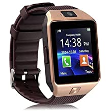 OPTA DZ09-SW-0002 Bluetooth Smart Watch| Sim & Memory Slot with Camera (Brown)