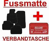 SCHNÄPPCHEN Passform Fussmatte ZERO schwarz + KFZ-Verbandtasche für das von Ihnen ausgewählte Fahrzeug, siehe Artikelbeschreibung