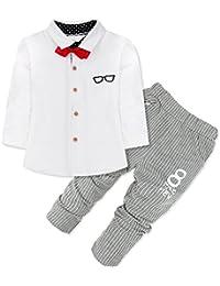 iEFiEL Conjuntos de Top Camisa Manga Larga y Pantalones para Niño Bebé de 9 Meses a 4 Años Conjuntos Hidalgos