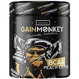 Original GAINMONKEY BCAA Pulver | Aminosäuren Komplex für Männer und Frauen im Fitness | Premium BCAAs Amino Mix 2:1:1 (Pfirsich Eistee)