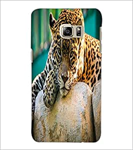 PrintDhaba Leopard D-2055 Back Case Cover for SAMSUNG GALAXY NOTE 5 EDGE (Multi-Coloured)