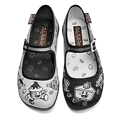 hot chocolate design chocolaticas cartoon women 39 s mary jane flat shoes bags. Black Bedroom Furniture Sets. Home Design Ideas
