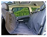 PiCoon Hundedecke Auto / Autoschondecke für Hunde in schwarz, wasserdicht, mit Sicherheitsgurt , für alle Automodelle, 160cm x 143cm, Rücksitz Schondecke Schutzdecke Sitzschutz Kofferraumschutz