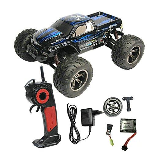 35km/h 2.4Ghz Voiture Radiocommandé Radio Commandée /Télécommandé /Camion /Truck /Voiture /Voiture Tout Terrain /Truggy /Buggy 1/12 2WD Modèle Véhicule de Haute Vitesse RC Courses Voiture (Bleu)