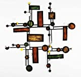 New - Contemporary Metal Wall Art Decor Sculpture - Abstract Map Grid - Brilliant Wall Art - amazon.co.uk