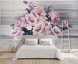 HONGYUANZHANG Abstrakte Schöne Blume Tapete Des Foto-3D Künstlerische Landschafts-Fernsehhintergrund-Tapete,128Inch (H) X 160Inch (W)