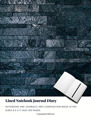 Lined Notebook Journal Diary: Notebooks And Journals Lines Composition Book Letter sized 8.5 x 11 Inch 100 Pages (Volume 55) - Bullets-graphic 100 Novel