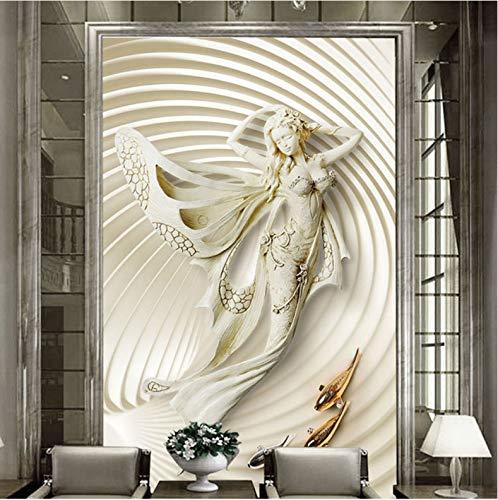 XCMB 3d tapete europäischen stil 3d stereoskopische mode skulptur wandbild wohnzimmer hotel eingang halle hintergrund wand dekor-350cmx245cm -