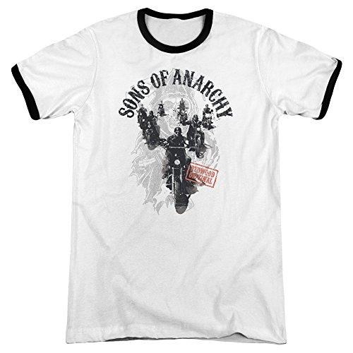 Sons of Anarchy Herren T-Shirt weiß / schwarz
