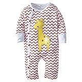BIG ELEPHANT Baby Jungen' 1 Stück Snap-up Langarm Spielanzug Pyjama H05