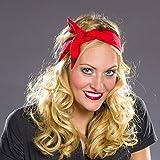 Rockabilly nastro per capelli - rosso-nero | Fascia per capelli anni 50 | acconciatura Rockabella | cerchietto Rock'n'Roll