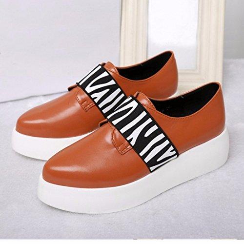 neue Zebra beilaeufige Slip auf Schuhe Plattform beilaeufige Frauenschuhe Turnschuhe Faulenzer Zebra Braun