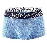 Fenverk Nahtlose Shorts mit extra flachen Abschlüssen - Herren Boxer Shorts(Blau 2,L)