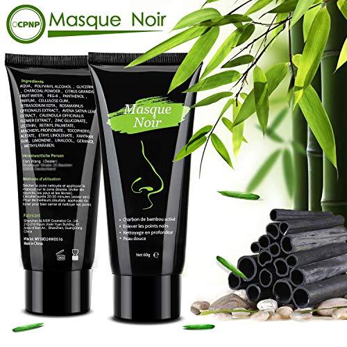 Masque Point Noir Charbon Noire Peel Off Anti Point Noir Masque-Blackhead Remover,Contrôle de l'huile, élimination des Points Noirs