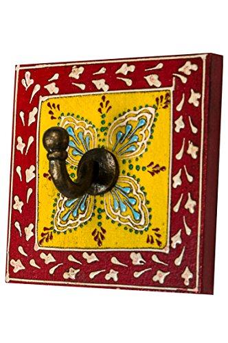 Vintage Garderobe Kleiderhaken Istari 4 Klein 10cm groß 1er Haken | Hakenleiste Wandhaken für die...