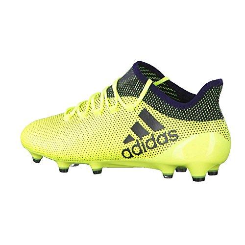 adidas Herren X 17.1 FG Fußballschuhe, Jaune Fluo/Bleu Marine/Bleu Marine Giallo (Amasol/Tinley/Tinley)