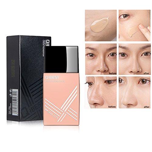 Allbesta Make-up Liquid Foundation Lightweight Natural Nude Concealer Fix Setting Moisturizing (Shine Silk Leave)