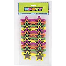 Partygram - 12 gafas de sol con diseño de estrellas (86935PG), para Niños