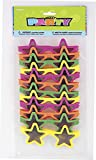 Star Novelty Glasses Party Bag Fillers, Pack of 12