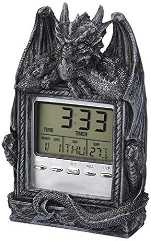 Design Toscano Dragon's Time LCD Alarm Clock