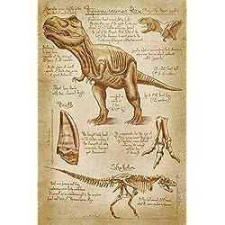 Tyrannosaurus Rex dinosaurio–divinci estilo