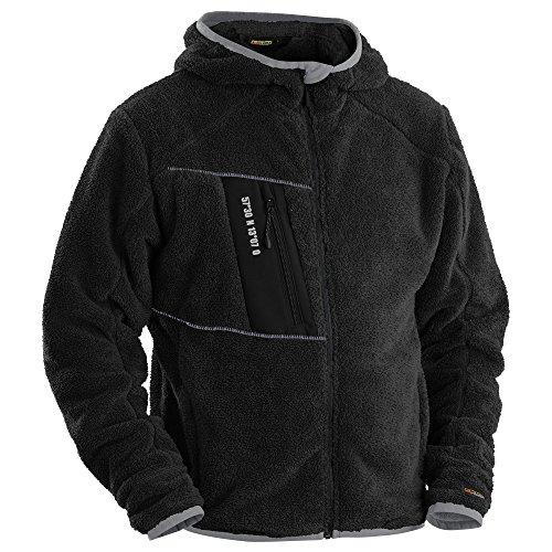 Fiberfleece Jacke Schwarz/Silber M - Western Hemd-jacke